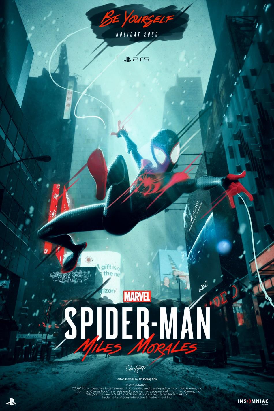 Marvels Spider-Man Miles Morales PS5 - SneakyArts Poster