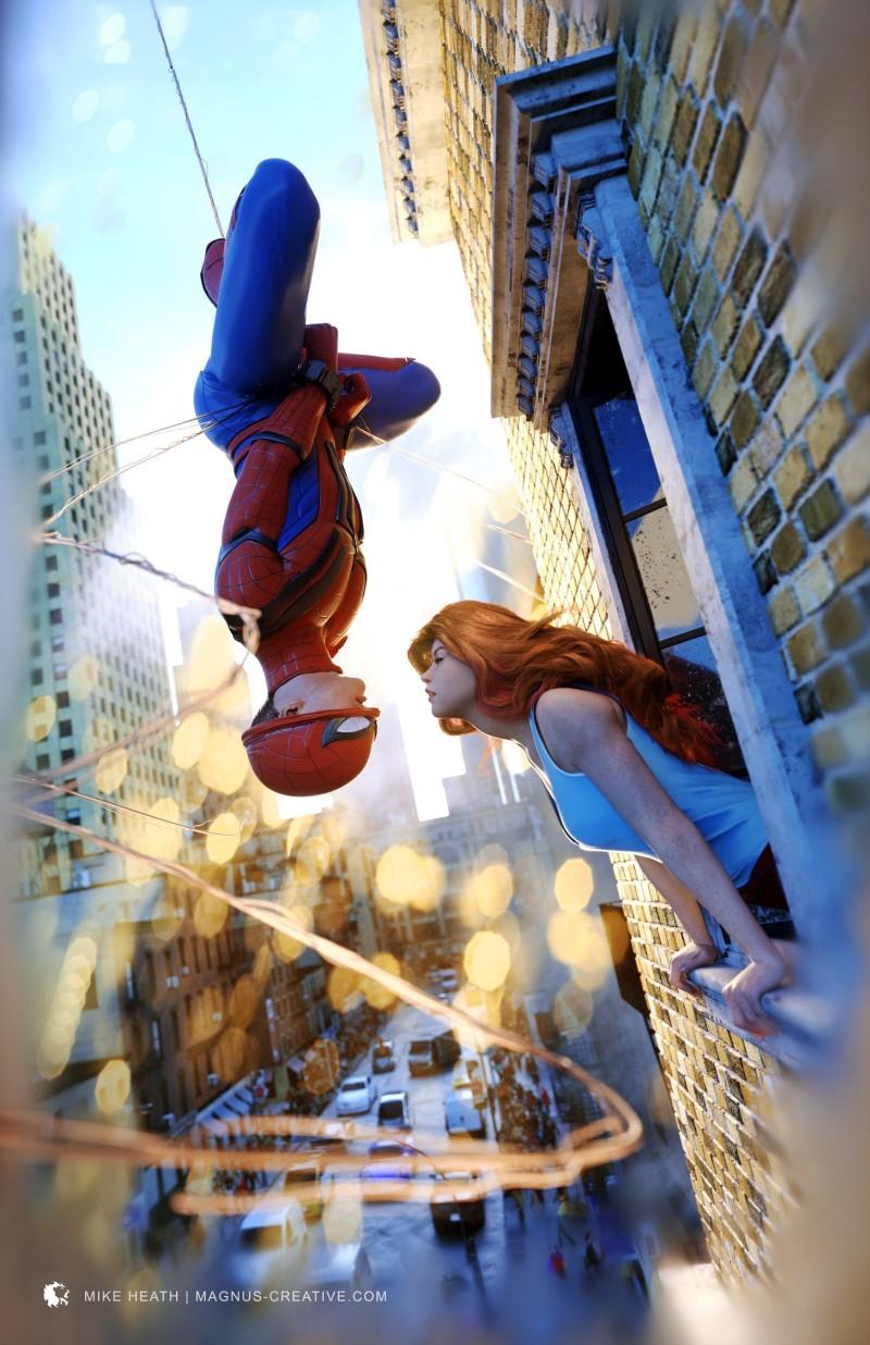 Spiderman by Mike Heath Artwork