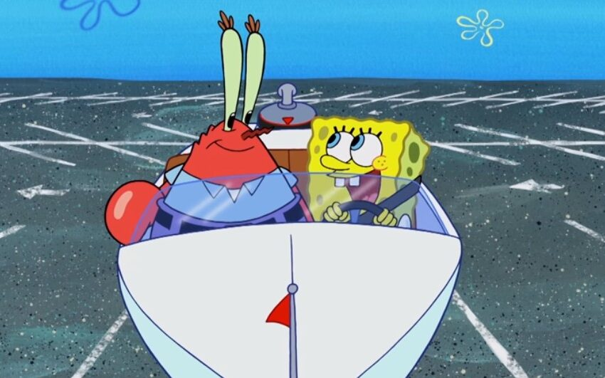 SpongeBob Learns To Drive with Mr. Crabs