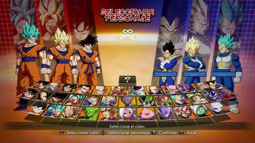 Goku vs Vegeta Dragon Ball Fighter Z