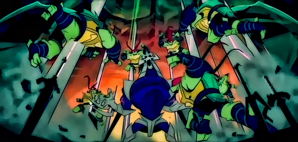 Ninja Turtles vs Shredder