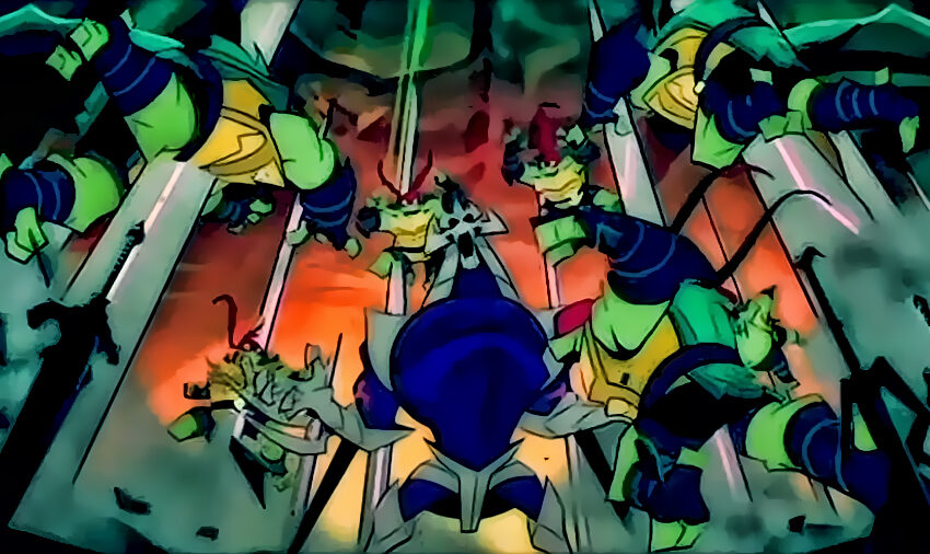 Rise of the TMNT: Ninja Turtles vs Shredder (Fight Scene)