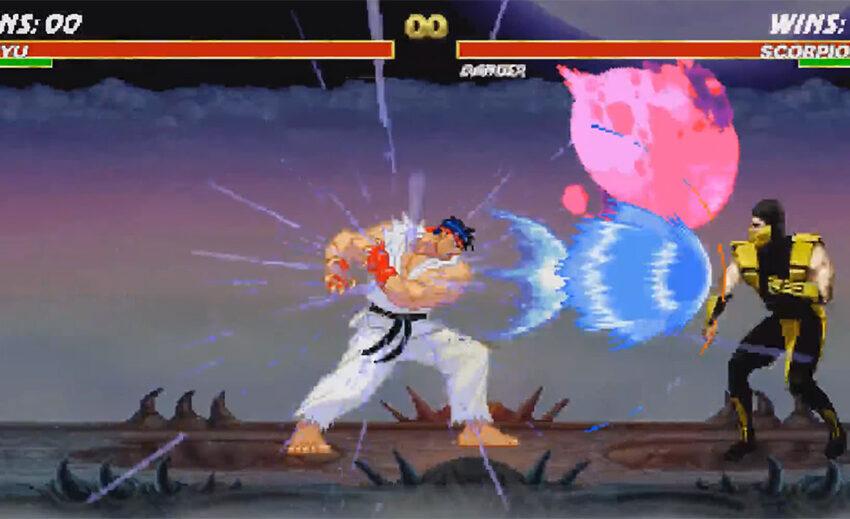 Ryu vs Scorpion (Full Fight) by Proxicide