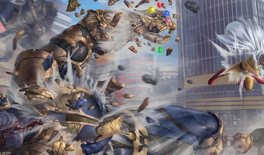 Thanos (IG) vs Saitama Artwork by AGUSSW